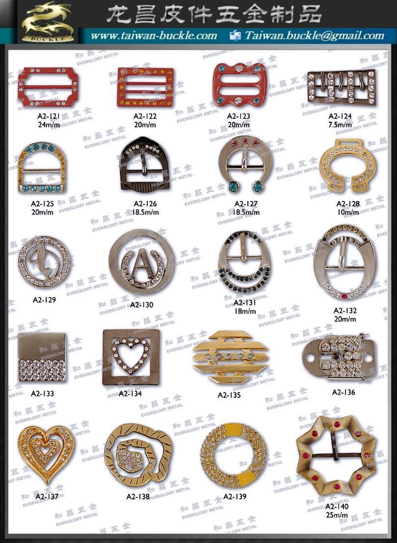 Phụ kiện kim loại giày dép Buckle belt hook button 1