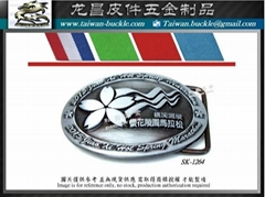 Marathon road race medal logo belt buckle