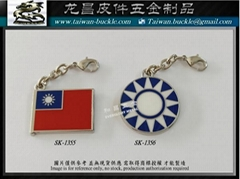 KMT map Taiwan Flag Charm Metal tag
