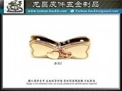 皮包五金 蝴蝶结 夹扣 磁铁釦