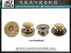 生产 : 磁钮磁釦 撞钉磁扣 压花磁扣 手缝磁扣