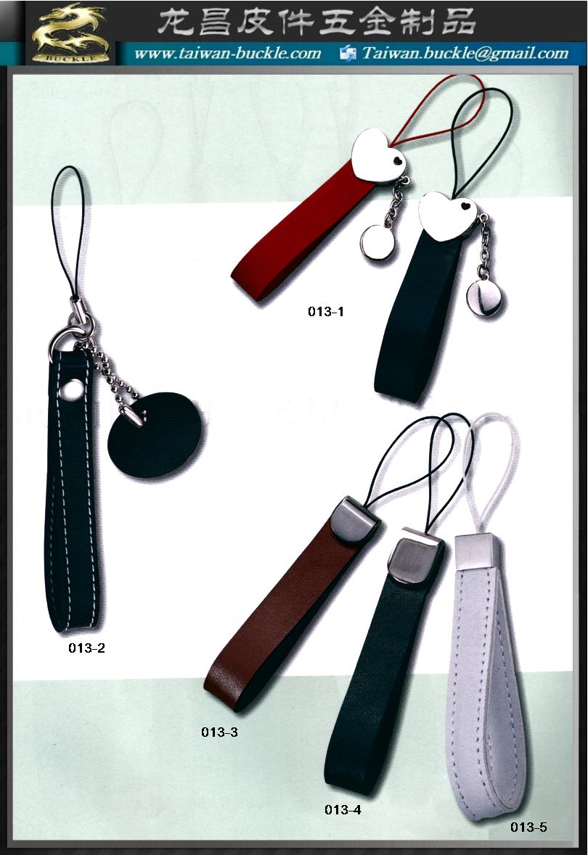 手机颈鍊,品牌首饰,手机皮吊饰 真皮钥匙圈 1
