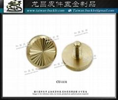 Copper Metal Screw Buckle  # Taiwan Metal Belt Buckle