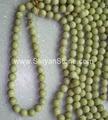Natural yellow round stone beads(YD027)