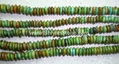 Saucer turquoise beadsYD013