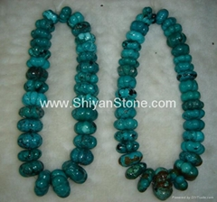 Turquoise melon beads(YD018)