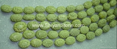 (Carved yellow oval beads)YD028