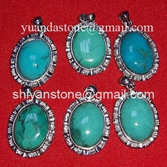 Jewellery(silver plating turquoise pendants) YD361