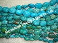 Turquoise oval beads(YD008-1)