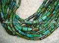 Natural Turquoise Tube Beads(YD012-2)