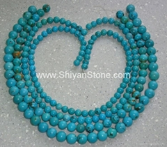 Round turquoise beads(YD001) (Hot Product - 1*)