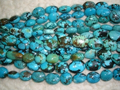 Turquoise big oval beads(YD008-2)