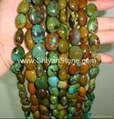 Turquoise oval beads (YD008-4)