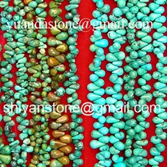 Gemstone(Teardrop turquoise  beads)YD011