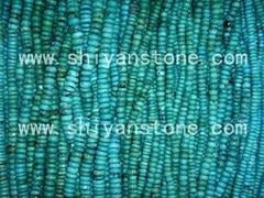 Gemstone(Roundel turquoise beads)YD009-1