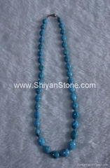 Turquoise oval beads necklace (YD308)