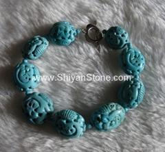 Natural Turquoise Bracelet(YD273)