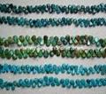 Gem(Flat Teardrop Turquoise beads)YD014