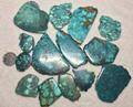 Natural turquoise polished rough slab