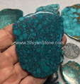 Natural turquoise polished rough slab  YD104