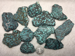 Natural turquoise rough stone YD111