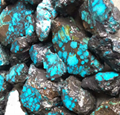 Natural blue Hubei turquoise rough YD101