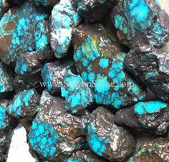 Natural blue webbing Hubei turquoise rough YD101 (Hot Product - 1*)
