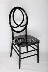 黑色树脂凤凰椅