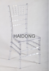 Transparent Clear Resin Chiavari Wedding Party Chair