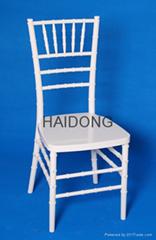 White Color PC Resin Chiavari Ballroom Event Chair R-CV-U01