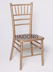 HDW-CV-U01 Gold Wood Chiavari Chair USA Style