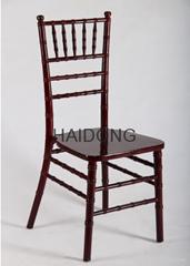 HDW-CV-U05D 深棗紅色木製宴會竹節椅