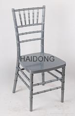 R-CV-U04 Silver Resin Chiavari Banquet Chair