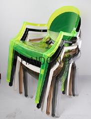 R-GH-L99 Colored Resin Ghost Louis Leisue Arm-Chair
