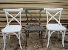Wooden Cross X Back Dining Chairs