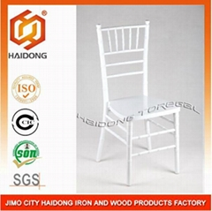 White Color Wooden Chiavari Tiffany Chair
