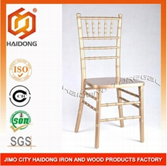 Gold Color Sold Wooden Chiavari Wedding Chair