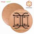 30''/48''/60''/72 Inch Round Commercial Plywood Folding Hotel Events Tables