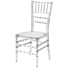 R-CV-U00 Transparent Crystal Resin Chiavari Chair