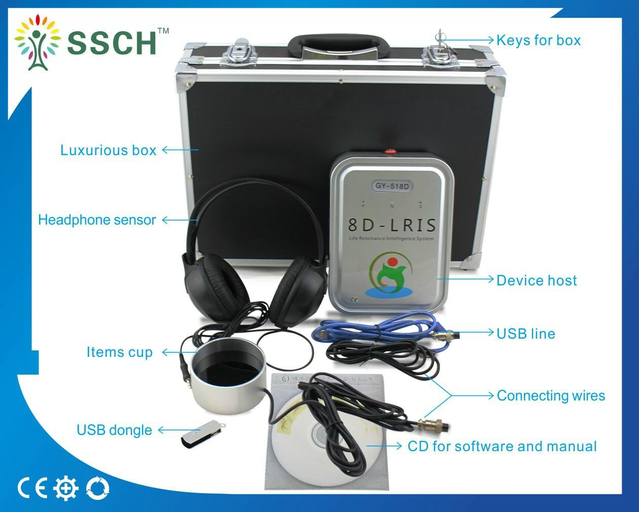 Clinical version Body Health Analyzer 8d NLS 1