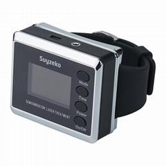 红色/蓝色激光手表抗糖尿病高血压腕部激光治疗仪