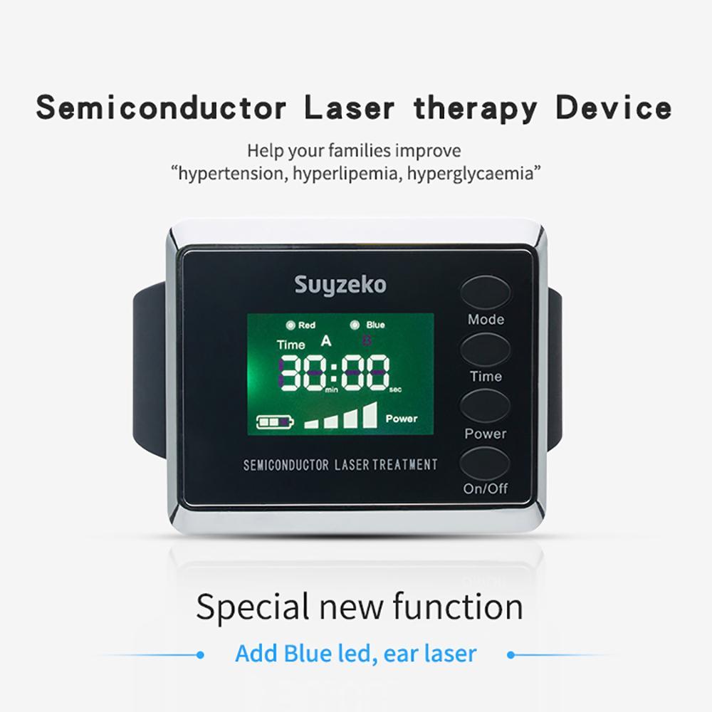 半導體治療激光針灸手錶藍光/紅光療法 1
