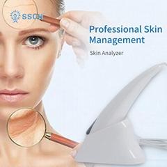 热销售便携式面部紫外线润滑脂皱纹皮肤分析仪