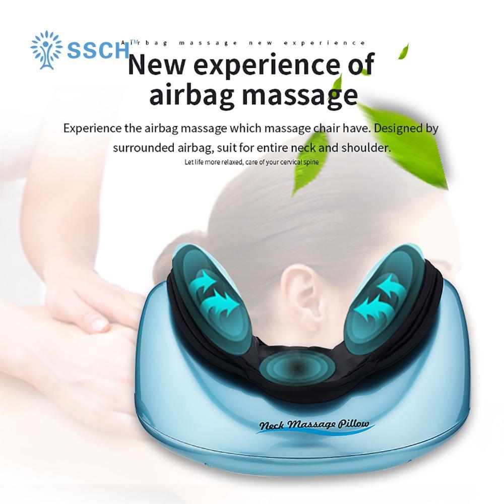 SSCH治療氣壓便攜式電動個人指壓壓力激活振動頸部按摩枕 4