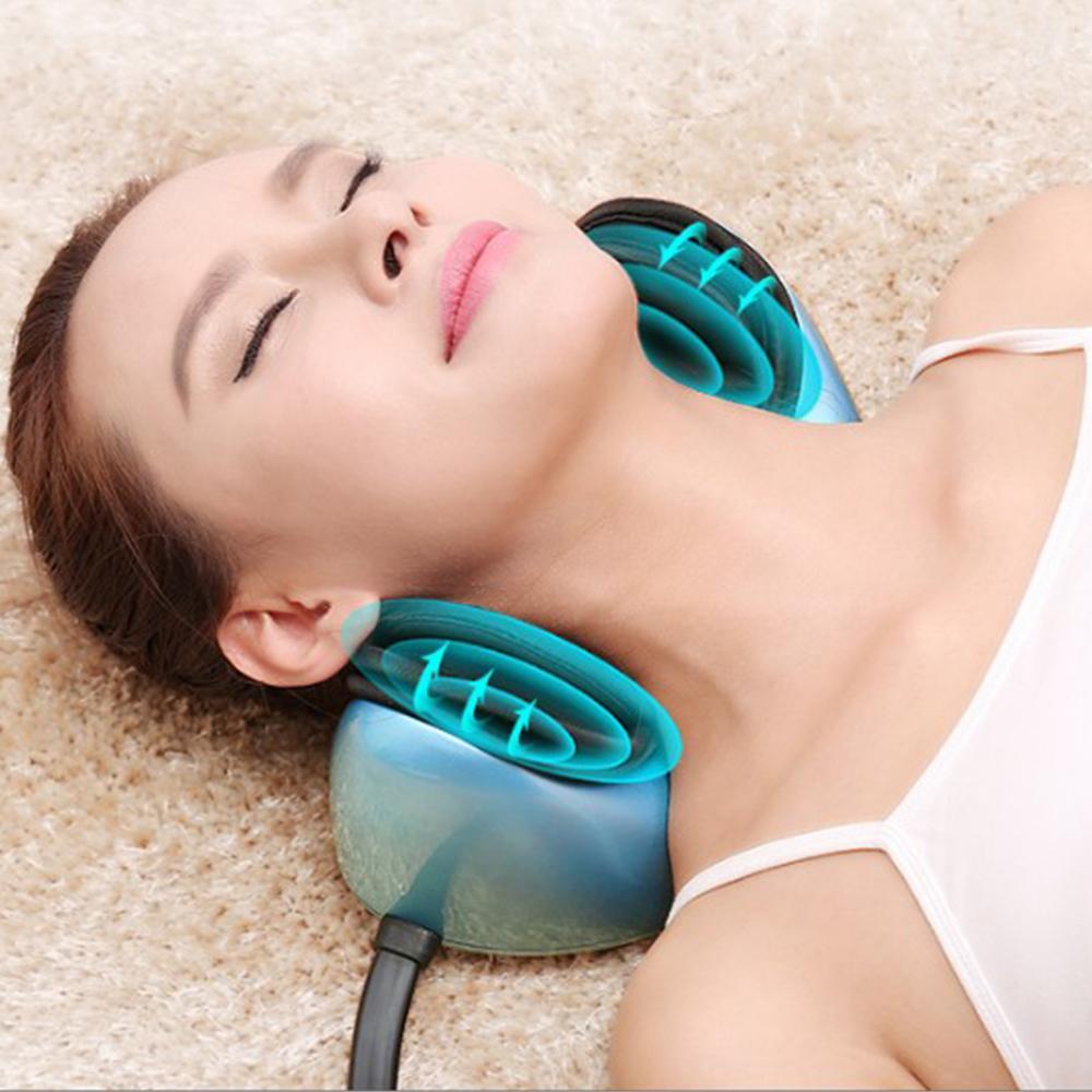 最新振動和熱頸部疼痛按摩器治療頸部按摩枕 3