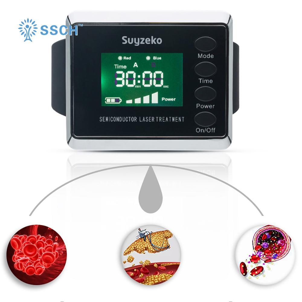 糖尿病治療紅藍色製造手腕低級激光治療手錶 1