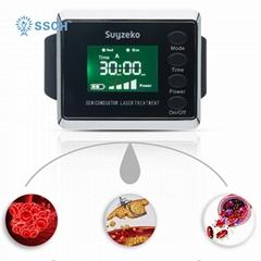 糖尿病治療紅藍色製造手腕低級激光治療手錶