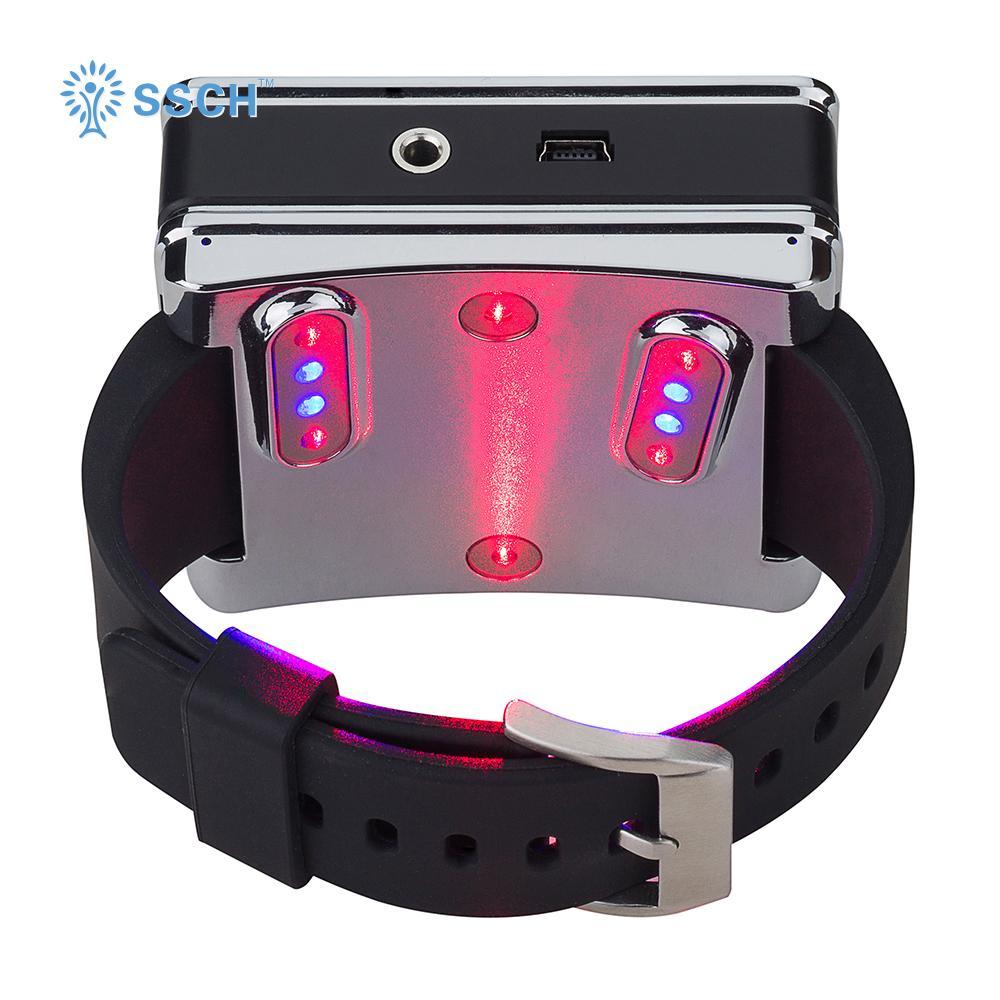 糖尿病治療紅藍色製造手腕低級激光治療手錶 3