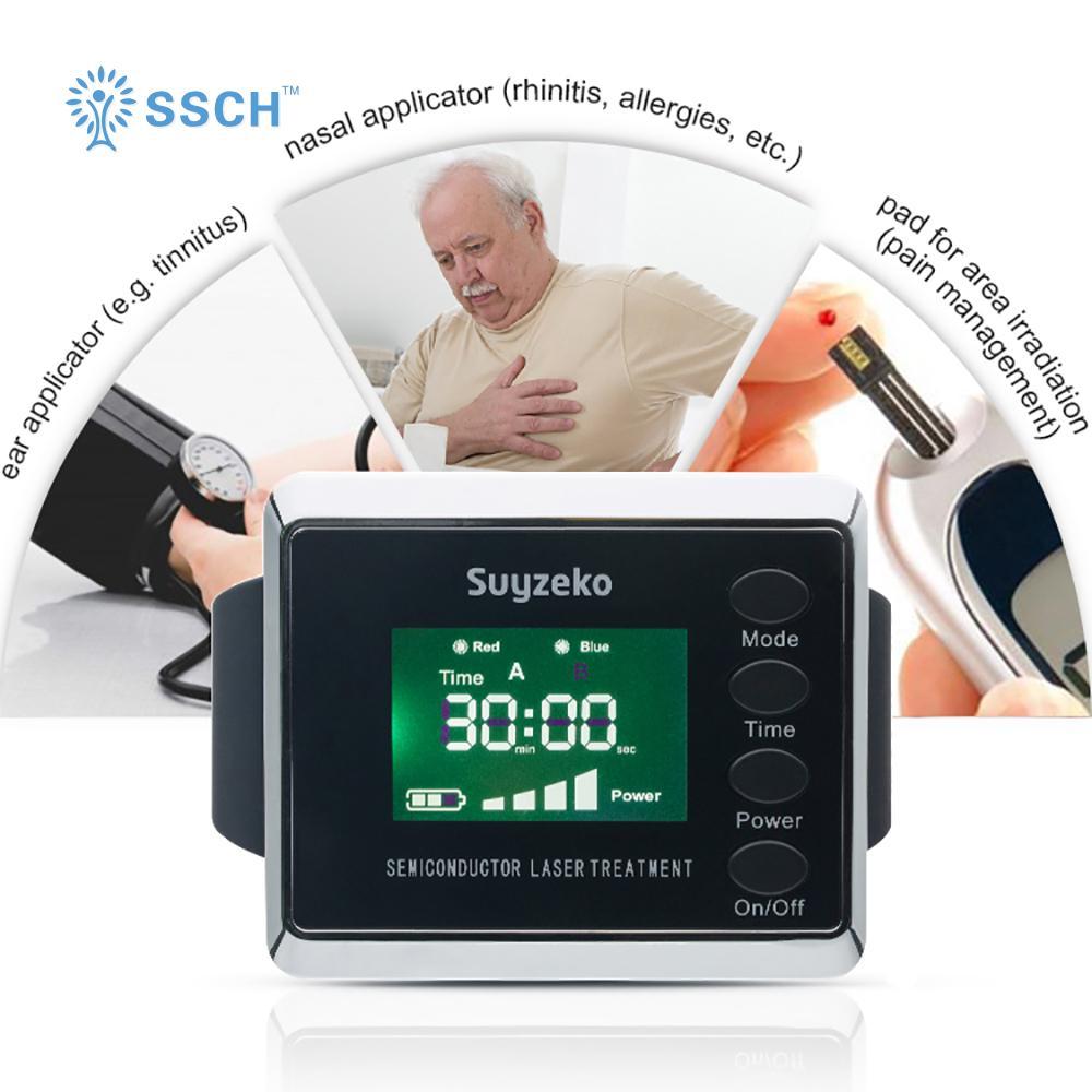 糖尿病治療紅藍色製造手腕低級激光治療手錶 4