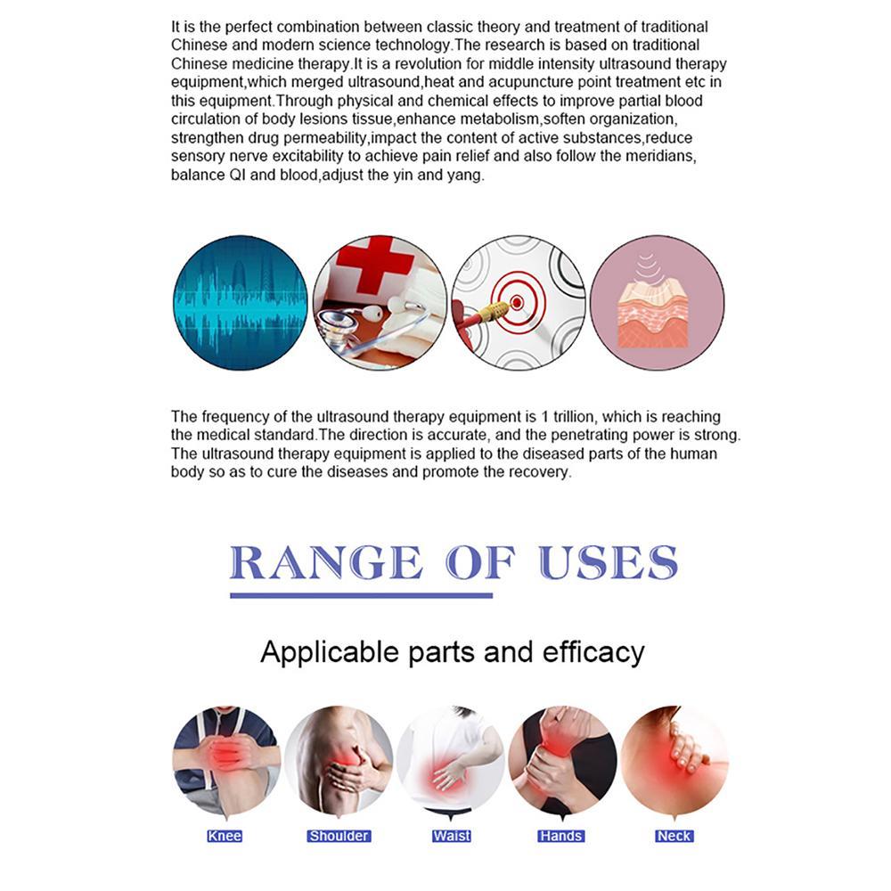 2019年高品质超声冲击波缓解疼痛仪 5